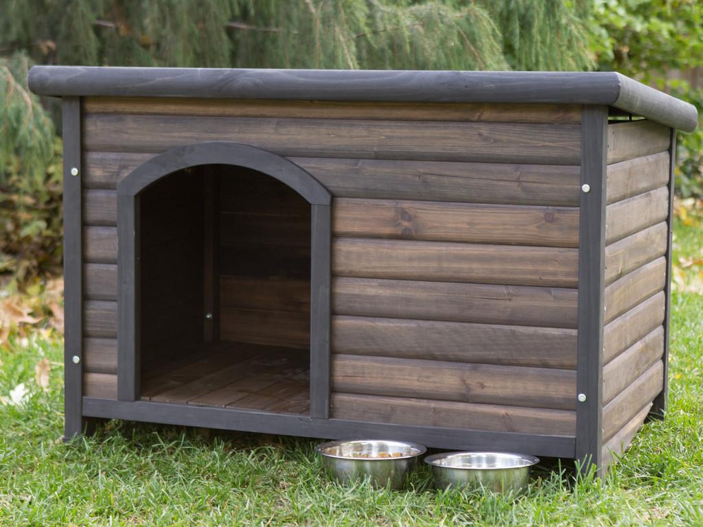 Тёплая будка для установки в вольер